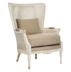 Archdale French Style Caned Back Antique White Wing Salon Chair Kathy Kuo Home http://www.amazon.com/dp/B00HSQ48FW/ref=cm_sw_r_pi_dp_oJR7ub07FM9M5
