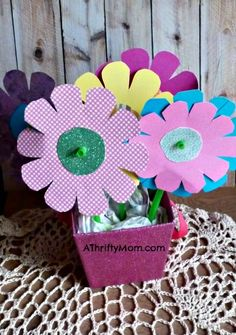 paper flowers ~ made with straws
