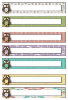 Owl Sayings for Classrooms | Owl Theme Blank File Folder Label Template FREEBIE! http://t ...