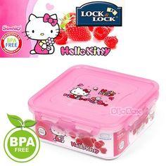 "Hello Kitty x ""Lock Lock"" BPA Free Airtight Lunch Box Bento Container 870ml | eBay"