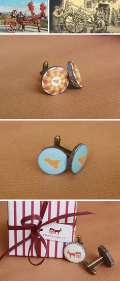 Cufflinks by Conducimi, Catania, Sicily.