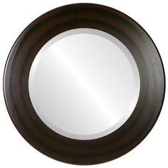 Round Wall Mirror, Beveled Mirror, Round Mirrors, Circle Art, Vertical Or Horizontal, Popular Colors, Home Decor Outlet, Mocha, Wooden Frames
