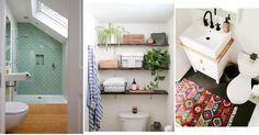 Más de 30 ideas y consejos para baños pequeños, ¡apunta! Country Baths, Bath Decor, Toilet Paper, Ladder Decor, Ikea, House, Ideas Decoración, Ideas Para, Design