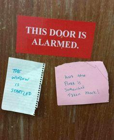 An alarmed Door...