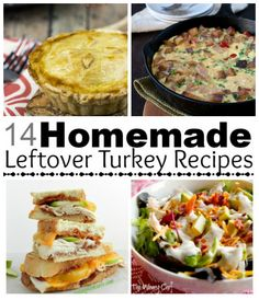 2 Weeks of Amazing Holiday Turkey Leftovers Recipes - Pinning now, reading later, like next week when I have two families' leftovers in my house for just me and Niles. :)