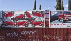 Witty Smart Car #Ad Shows Just How Well It Fits | A Lot More Than Just Promos #billboard #smart #smartcar #advertising