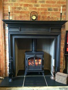 Living Room Carron Belgrave Cast Iron Surround Stovax Riva Plus Midi Woodburning Stove