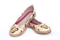 Goby Women's Shoes Butterfly Ballerina Espadrille Textile FBR1208 Color Splash, Ballerina, Memory Foam, Women's Shoes, Espadrilles, Butterfly, Canada, Textiles, Flats