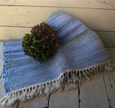 Check out this item in my Etsy shop https://www.etsy.com/listing/249431713/handmade-amish-blue-jean-rag-rug-cabin