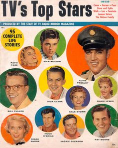 This magazine cover show some of the most popular stars from 1959