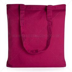 Baumwolltaschen mit langen Tragegriffen pink