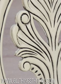 I think I've found a winner for how to refinish my dresser...>> Video Tutorial: Glazing the detail of your furniture.