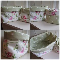 fabric basket organiser - basically a reversible tote without the handles..