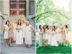Bridesmaids Outfits   Salt Lake Temple + Sleepy Ridge Wedding   Bridger & Lindsey   •• Kylee Ann Photography   Utah Photographer Syna Harris - Hair and Make Up, Nannette York - Bride Bouquet