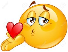 Illustration about Cute emoticon blowing a kiss. Illustration of blow, emoticon, affection - 14654286 Smileys, Funny Emoticons, Funny Emoji, Smiley Emoji, Cool Emoji, Emoji Love, Images Emoji, Clipart Smiley, Bisous Gif