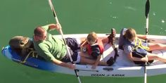 "A family kayaking in Santa Barbara harbor in California on Saturday found themselves paddling with an extra passenger when a sea lion pup hopped aboard and hitched a ride.    ""At first it felt like he was pushing the kayak. We felt him back t..."