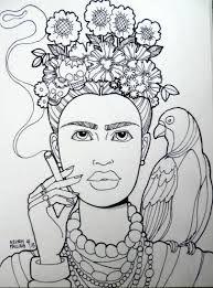 Resultado De Imagen Para Frida Kahlo Dibujos Para Pintar En