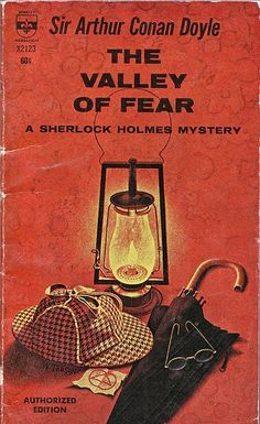 'The Valley of Fear' by Arthur Conan Doyle, one of my favourite Sherlock Holmes stories, although half of it is completely empty of that charismatic detective. It is about secret societies, gunfights and romance, as well as unsolved crimes. Arthur Conan Doyle Books, Sherlock Holmes Stories, Sherlock Books, Valley Of Fear, A Study In Scarlet, Sir Arthur, Crime Fiction, Fiction Novels, Baker Street