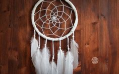 Dream Catcher  Winter Wonderland  With White Feathers by bohonest