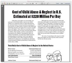 the cost of child abuse