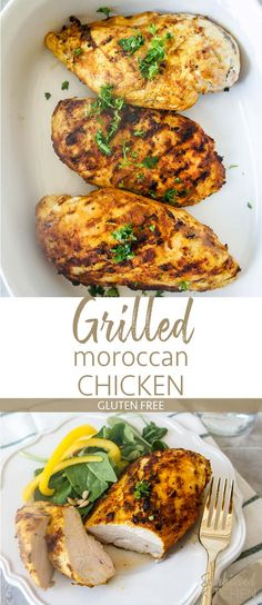 Grilled Moroccan Spiced Chicken / Warming spices and a simple marinade make this chicken moist and flavorful. | SUNKISSEDKITCHEN.COM | #grilling #grilled #chicken #bbq #moroccan