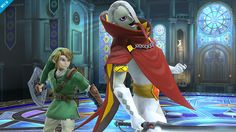"""No, I'll just beat you within an inch of your life!"" Demon Lord Ghirahim makes an appearance in Smash Bros!! He's an Assist Trophy, so he could conceivably back up Link, too."
