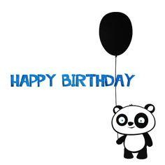 Happy Birthday Panda Card Cool Cards 25629wall.jpg