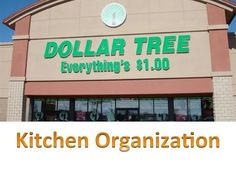Dollar Tree Kitchen Organization!