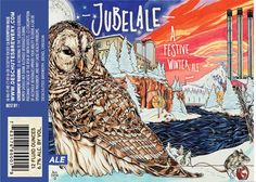 Deschutes Brewery's 2013 Jubelale label, created with Copic markers by Avlis Leumas