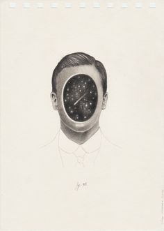 The Colombian artist Juan Osorno creates very minimal and clean surreal portraits using just a pencil. And the result is super stunning. Graphite Drawings, Drawing Sketches, Pencil Drawings, Art Drawings, Drawing Board, Illustrations, Illustration Art, Constellations, Art Pictures