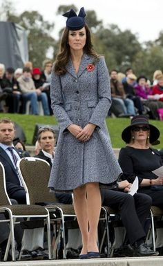 Kate Middleton - Prince William and Kate Mark ANZAC Day. Very nice style for Duchess Kate.