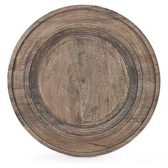 Southern Living New Nostalgia Rustic Mango Wood Charger Plate (25 AUD) ❤ liked on Polyvore featuring home, kitchen & dining, dinnerware, rustic dinnerware and rustic charger plates