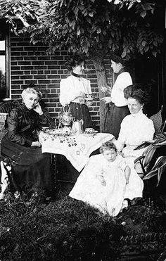 Afternoon tea in the garden - 1911