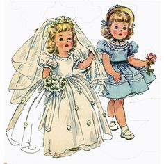 Vintage Doll Clothes PATTERN 4909 for 21 in Toni by BlondiesSpot