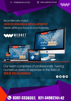 We Recruit the Best Web Design, Web Development and Graphic Designs Talent around so you can be Confident of Getting 100% good Results..!! Contact us : 021- 34982741-42 www.webnet.com.pk info@webnet.com.pk