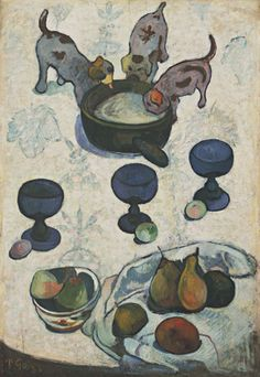 Gauguin's Still Life with Three Puppies painted in 1888.