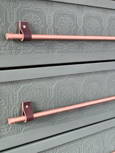 IKEA TARVA Hack - Paintable Wallpaper and Copper Pipes - Champagne Chaos