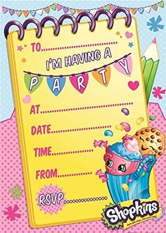 Shopkins Birthday Party - Kids are crazy about these adorable characters and at Great Kids Birthday Parties we have the cutest FREE printables, party ideas, coloring pages, invitations and more.