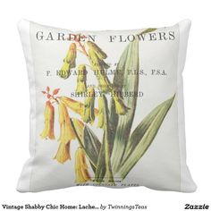 Vintage Shabby Chic Home: Lachenalia Pillow
