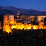 Night alhambra palace
