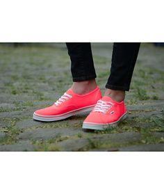 Neon Coral Shoe