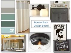 Master Bath Design Board I An Uncommon Fraase