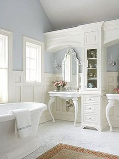 This is what the farmhouse bathroom sink should look like one day. This, or a converted dresser.