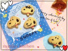 snoopy chocolate sandwich cookie