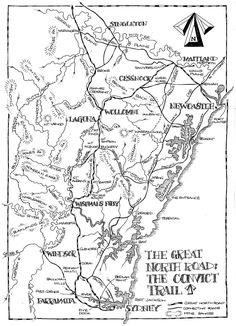 Map of the Great North Road Local History, Family History, Maitland Nsw, Sydney Map, England Map, Tourist Info, Great North, North East England, Old Maps