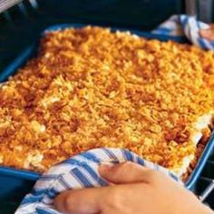 Funeral Potatoes (potato corn flake casserole)