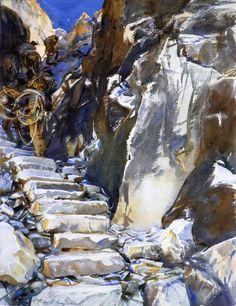 Carrara Lizzatori 1, watercolor by John Singer Sargent 1911