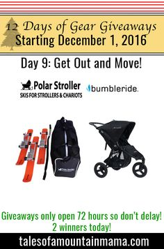 Need a nudge out the door? Yes, me too! Win today from Bumbleride & Polar Stroller !!