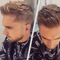 textured fauxhawk hairstyle for men