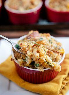 Baked Pumpkin Kale Macaroni and Cheese
